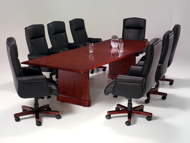 8' Rectangular Conference Table with Slab Bases | Governors Collection