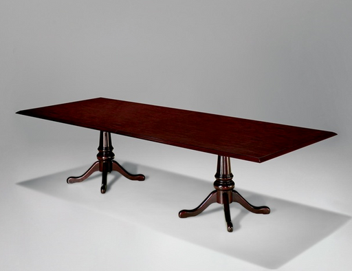8' Rectangular Conference Table with Queen Anne Base | Governors Collection