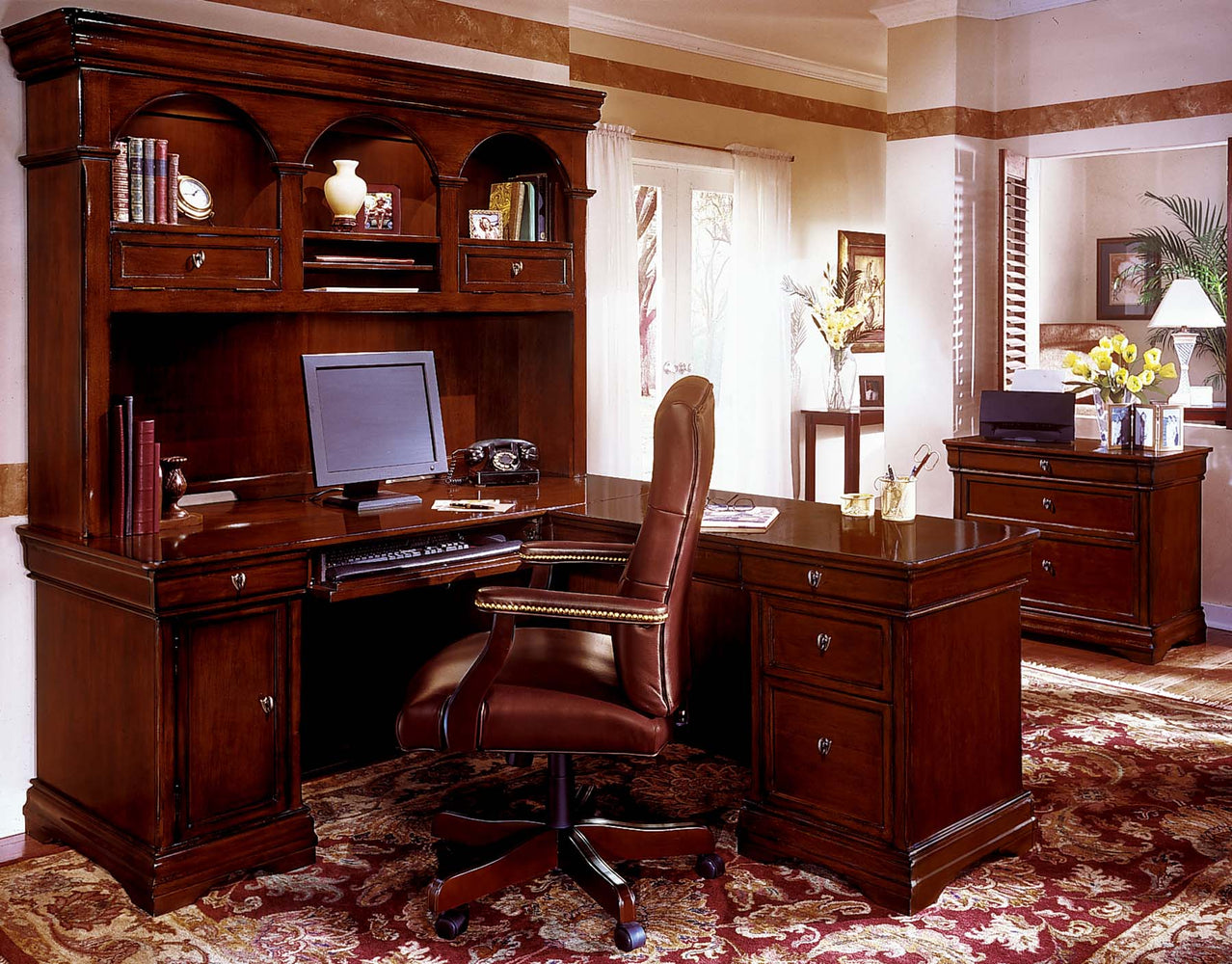 Suite - L Desk, Hutch, File | Rue De Lyon Collection