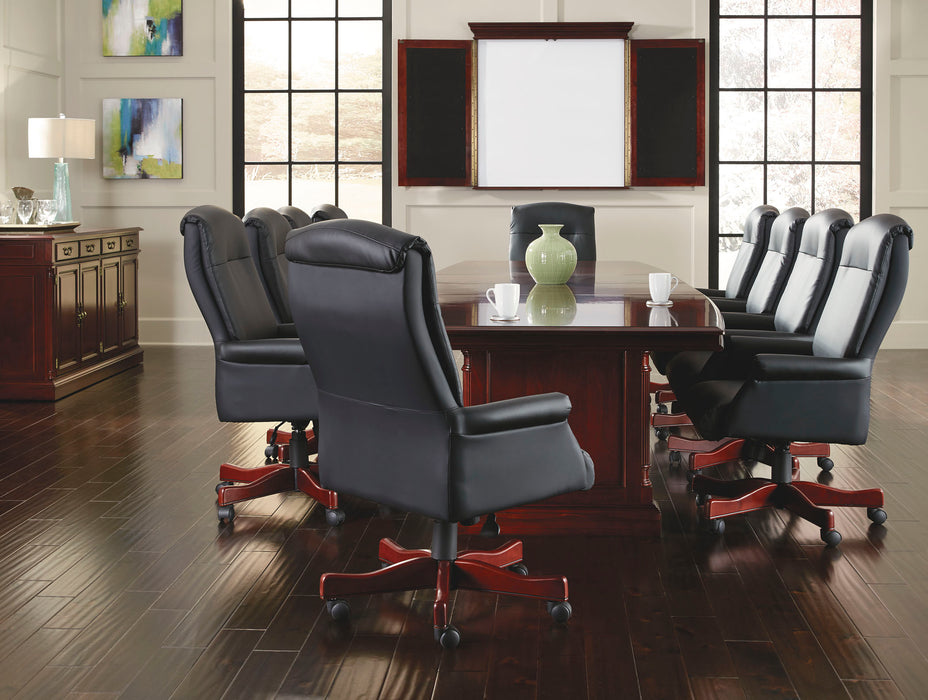 12-Ft Boat Shaped Expandable Conference Table | Keswick Collection