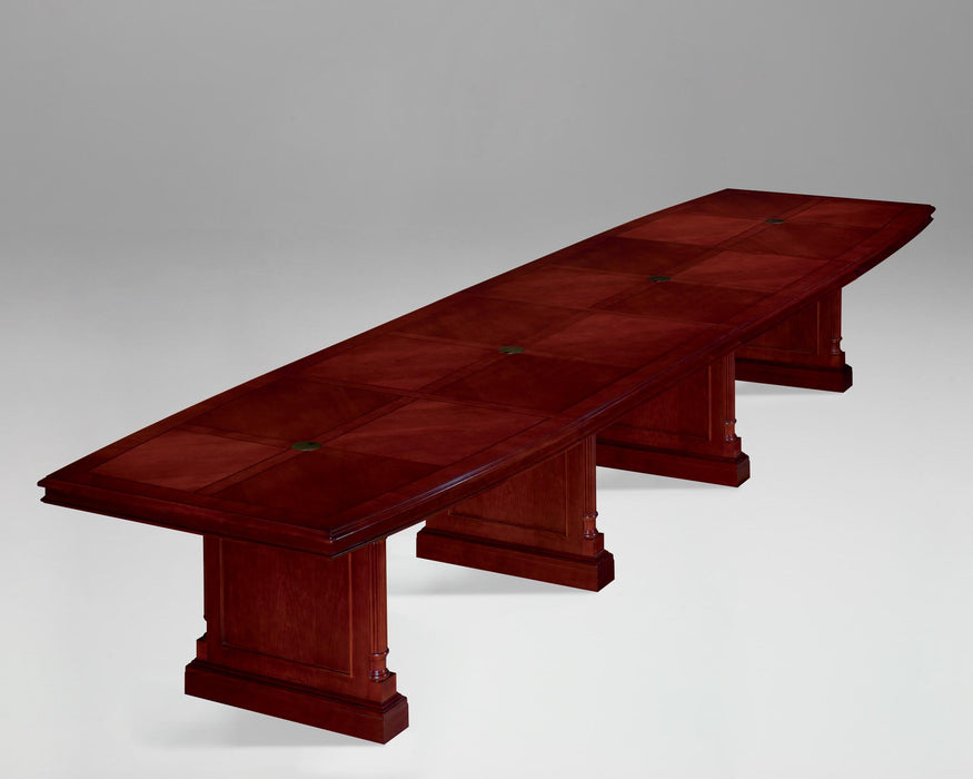 18-Ft Boat Shaped Expandable Conference Table | Keswick Collection