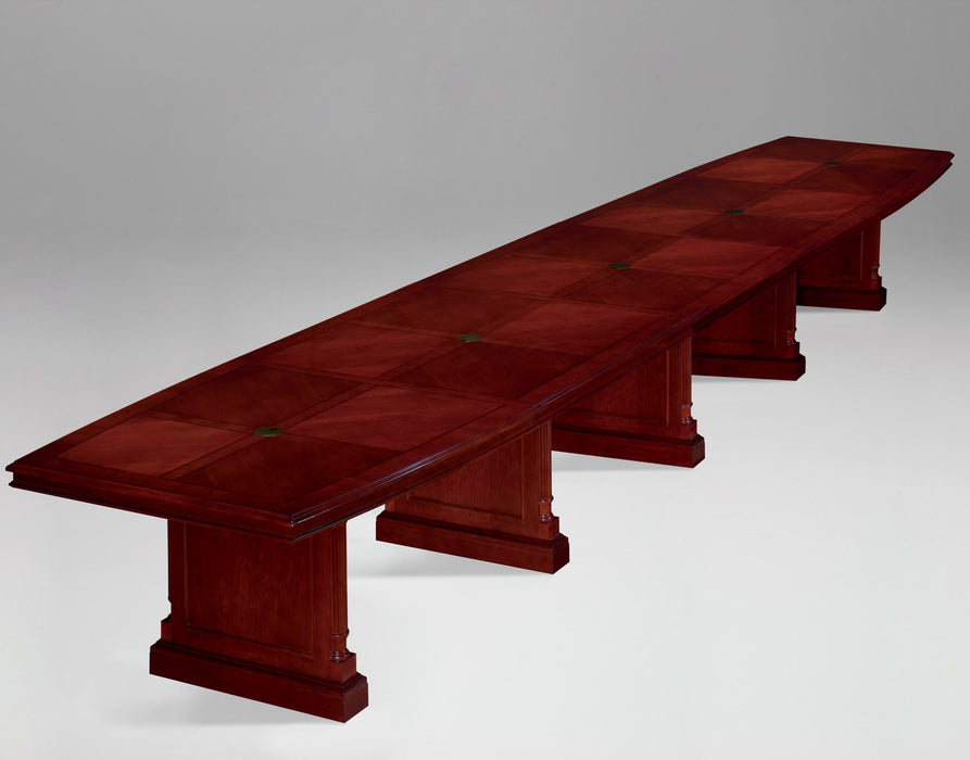 22-Ft Boat Shaped Expandable Conference Table | Keswick Collection