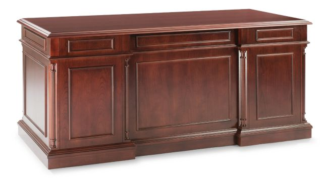 ASSEMBLED EXECUTIVE DESK WITH HPL TOP - Keswick Series | DMI Office Furniture Works - home office desk set, full office furniture set, commercial office furniture sales, commerical office desk furniture