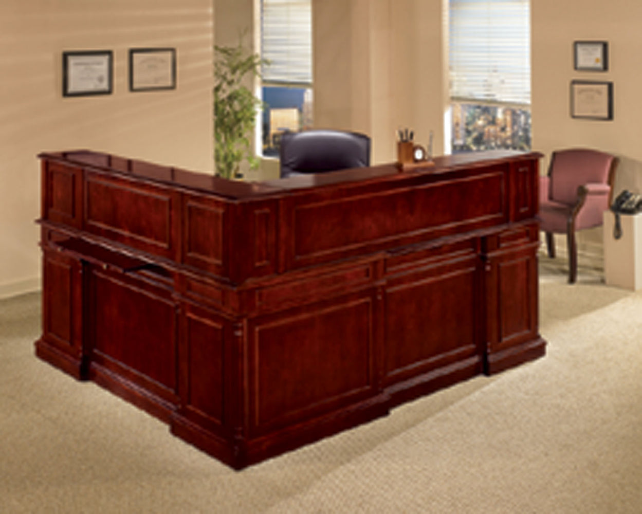Reception L Desk | Keswick Collection