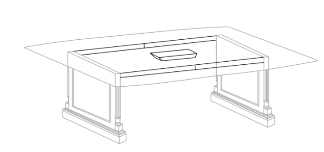 "Expandable Conference Table Storage Base (for 60"" Tops) 