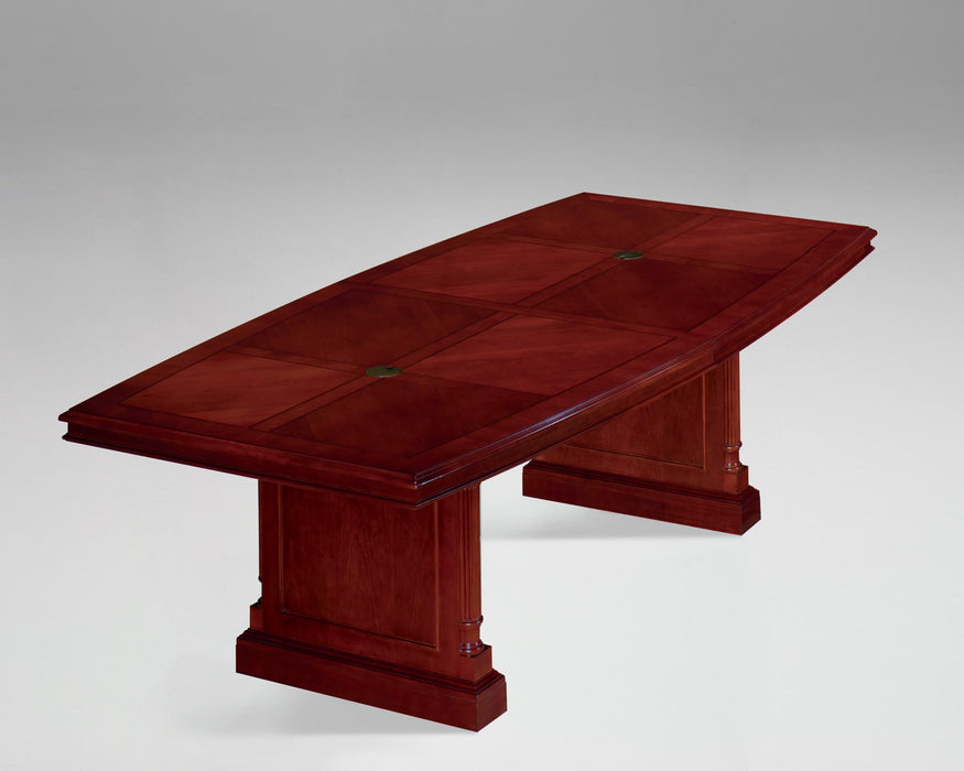 8-Ft Boat Shaped Expandable Conference Table | Keswick Collection