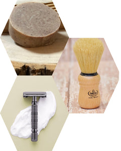 clean shave canada, shave puck, rockwell razor, shave brush, omega