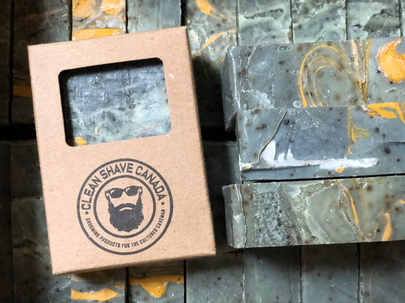 Men's Grooming, Cleanshave Canada, Clean Shave Canada, Clean Shave, artisan soap, handmade soap, charcoal soap, rize soap, morning bar, coffee soap, coffee scrub, rize soap, rise soap
