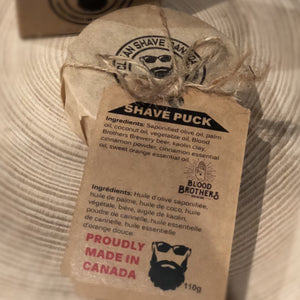 clean shave canada, shave puck, mens grooming, shave soap, wet shave, shaving soap, shaving puck