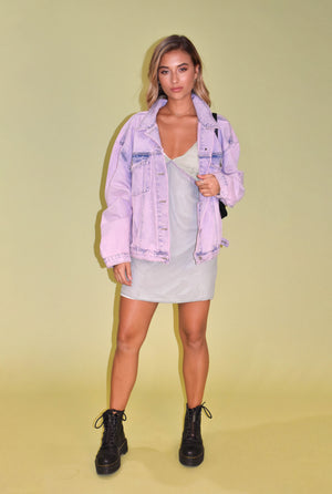 Cool To Be Different Purple Unisex Denim Jacket
