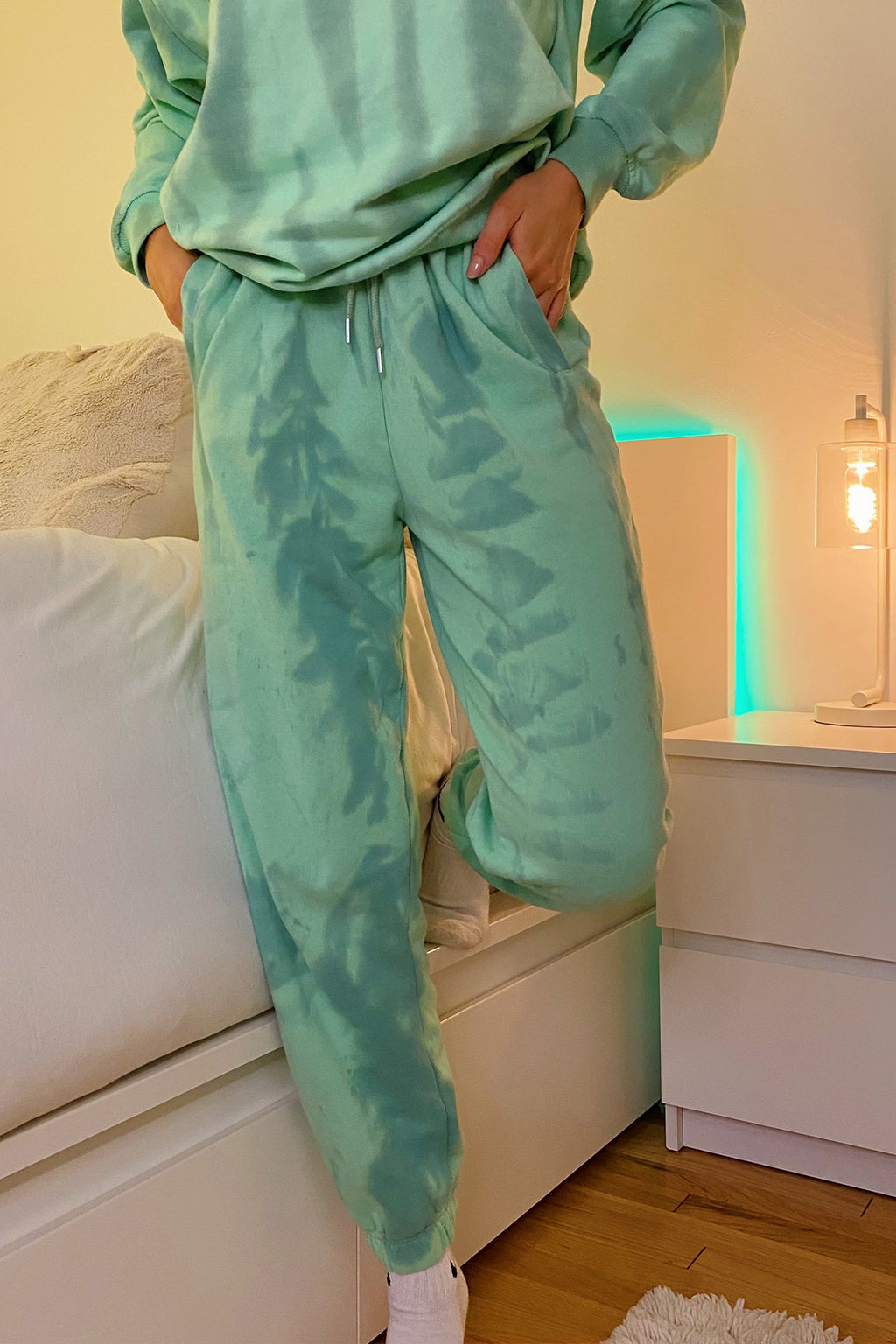 Billie Green Tie Dye Sweatpants