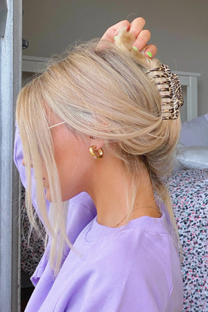 Wild Side Cheetah Claw Hair Clip