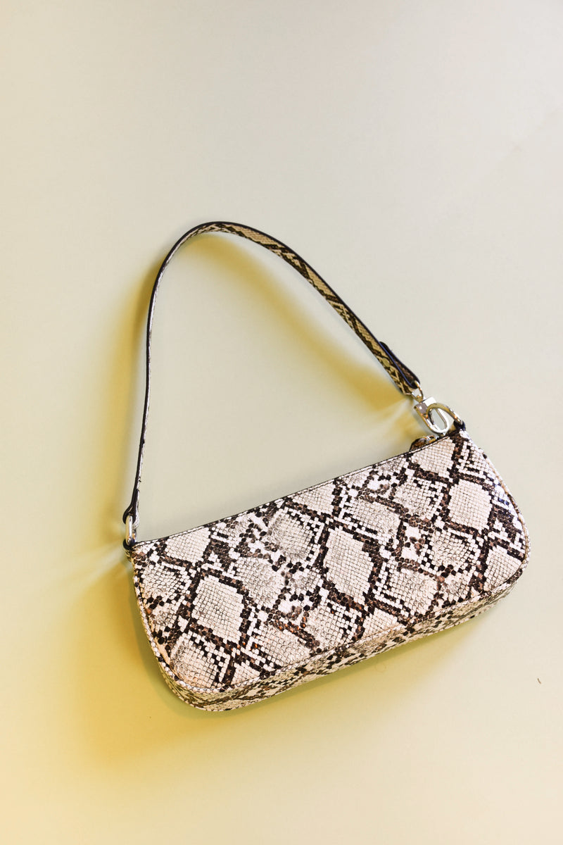 Cool Again Snakeskin Shoulder Bag