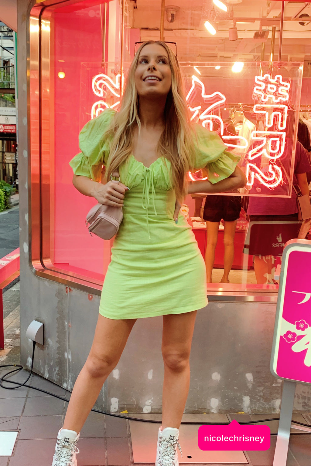 Extra Salty Lime Mini Dress