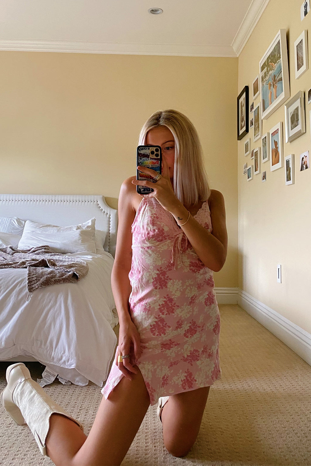 Feels Like Summer Baby Pink Floral Mini Slip Dress