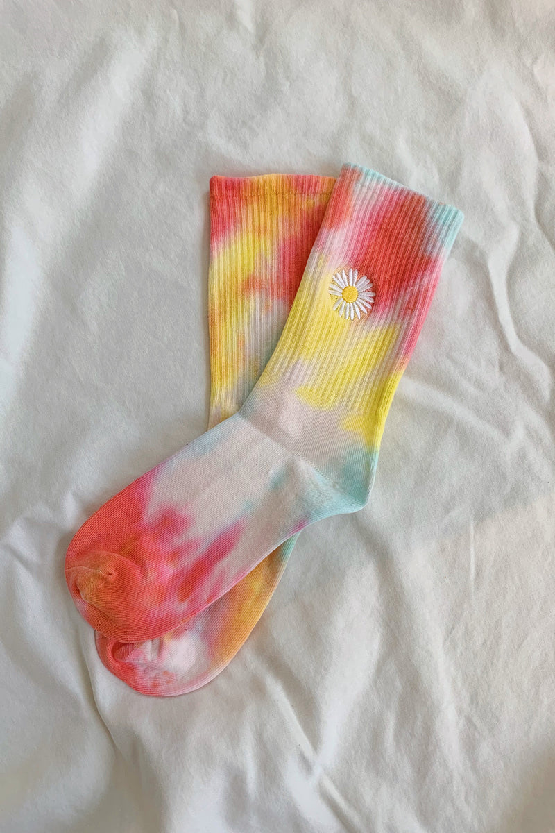 Groovy Mood Rainbow Tie Dye Socks