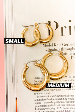 Forever and Always Gold Hoops