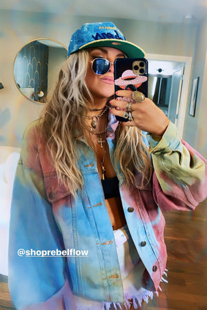Vintage Tie Dye Denim Jacket