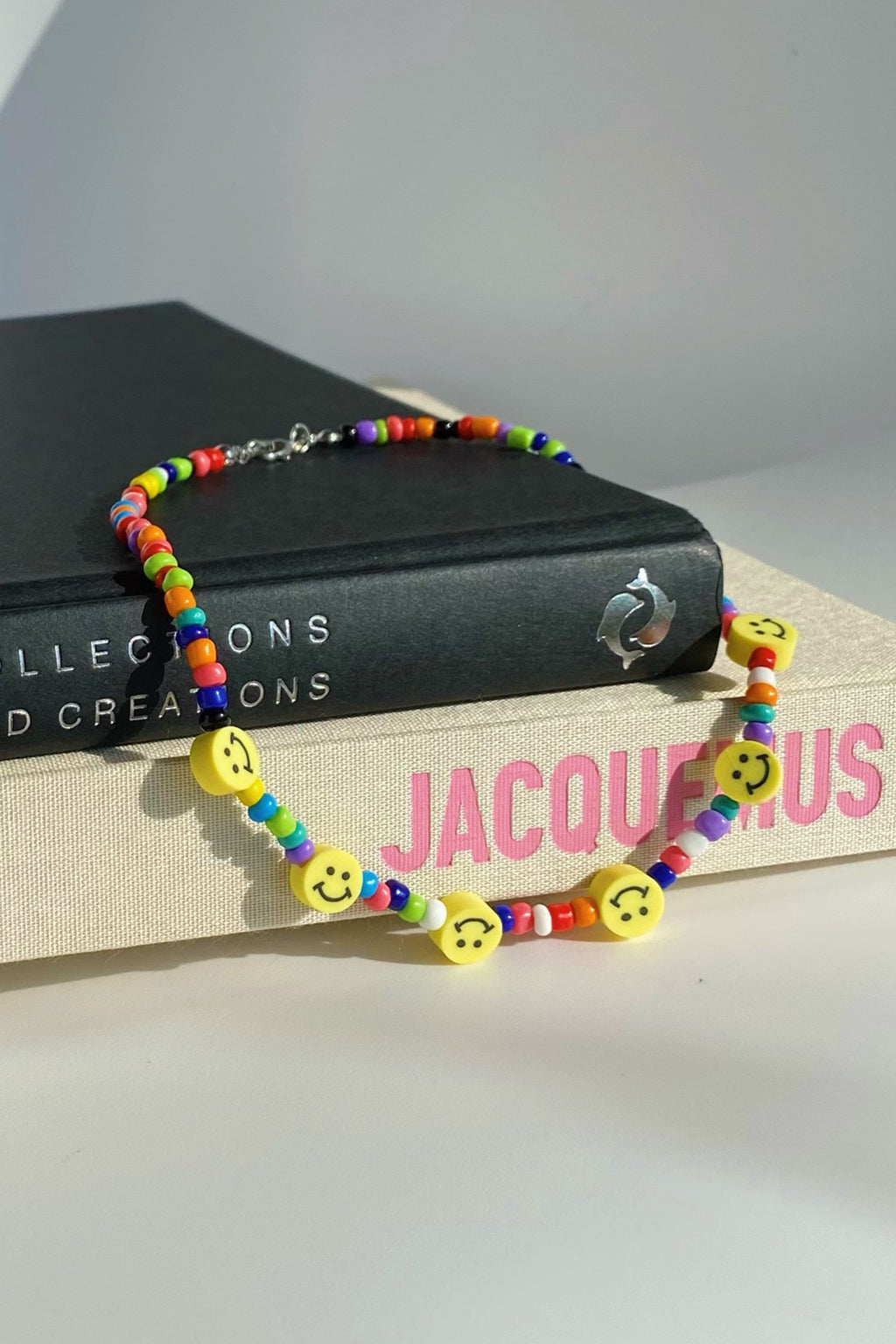 Smiley Face Rainbow Necklace