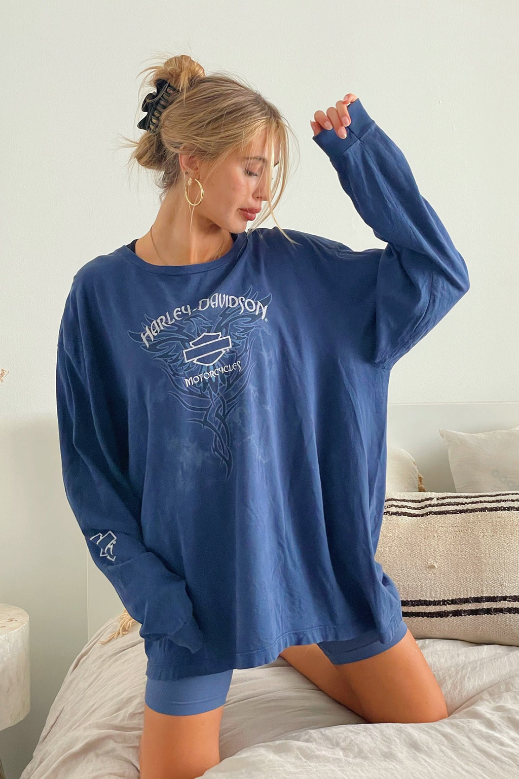 New Hampshire Vintage Harley Davidson Long Sleeve Tee