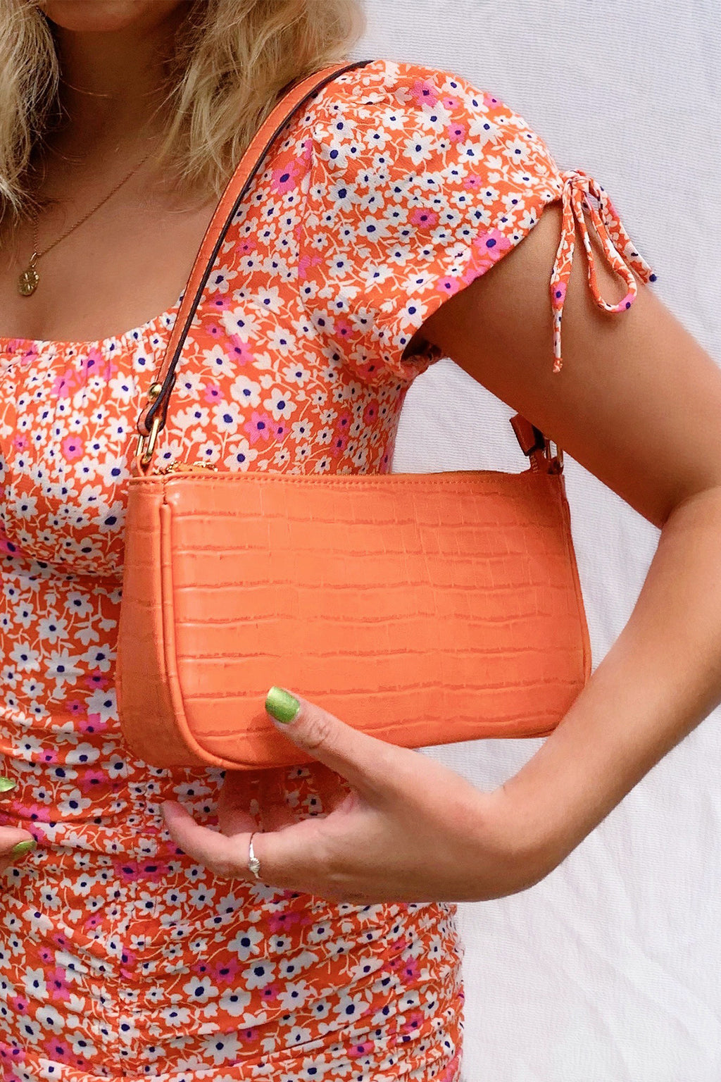 On Sunset Orange Shoulder Bag