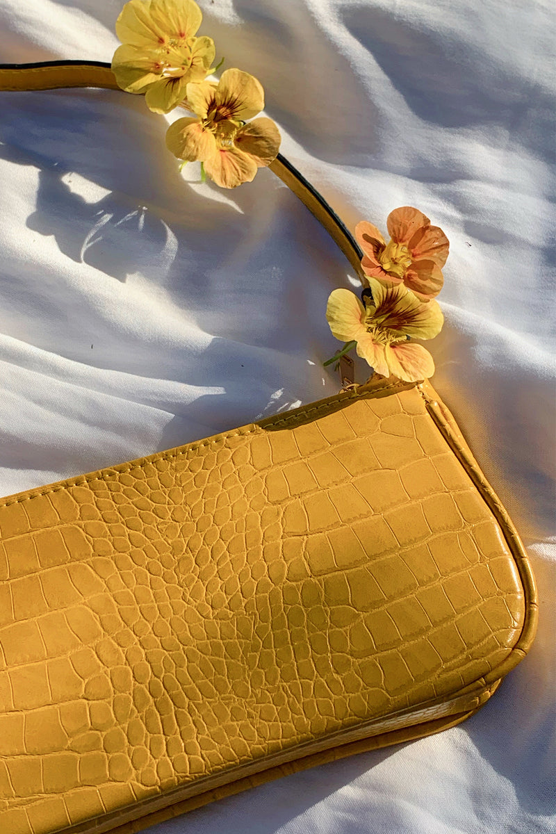 On Sunset Yellow Shoulder Bag