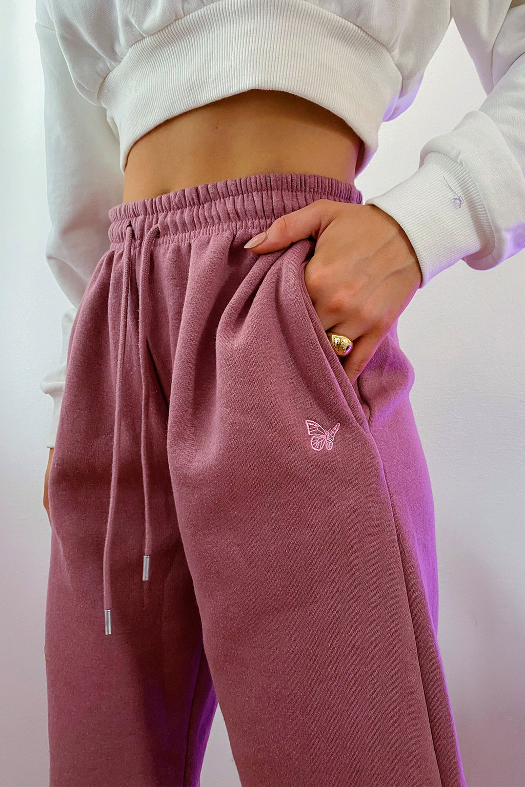 Chill Out Pink Butterfly Sweatpants