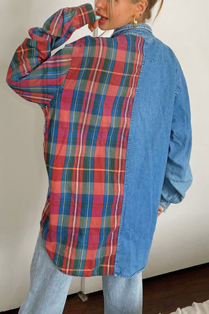 Miles Half and Half Vintage Button Up Shirt
