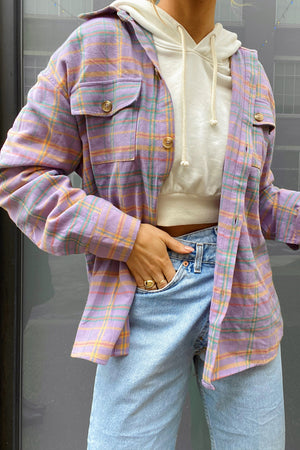 Good Days Purple Plaid Flannel