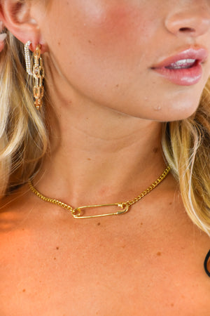 Quick Fix Safety Pin Necklace