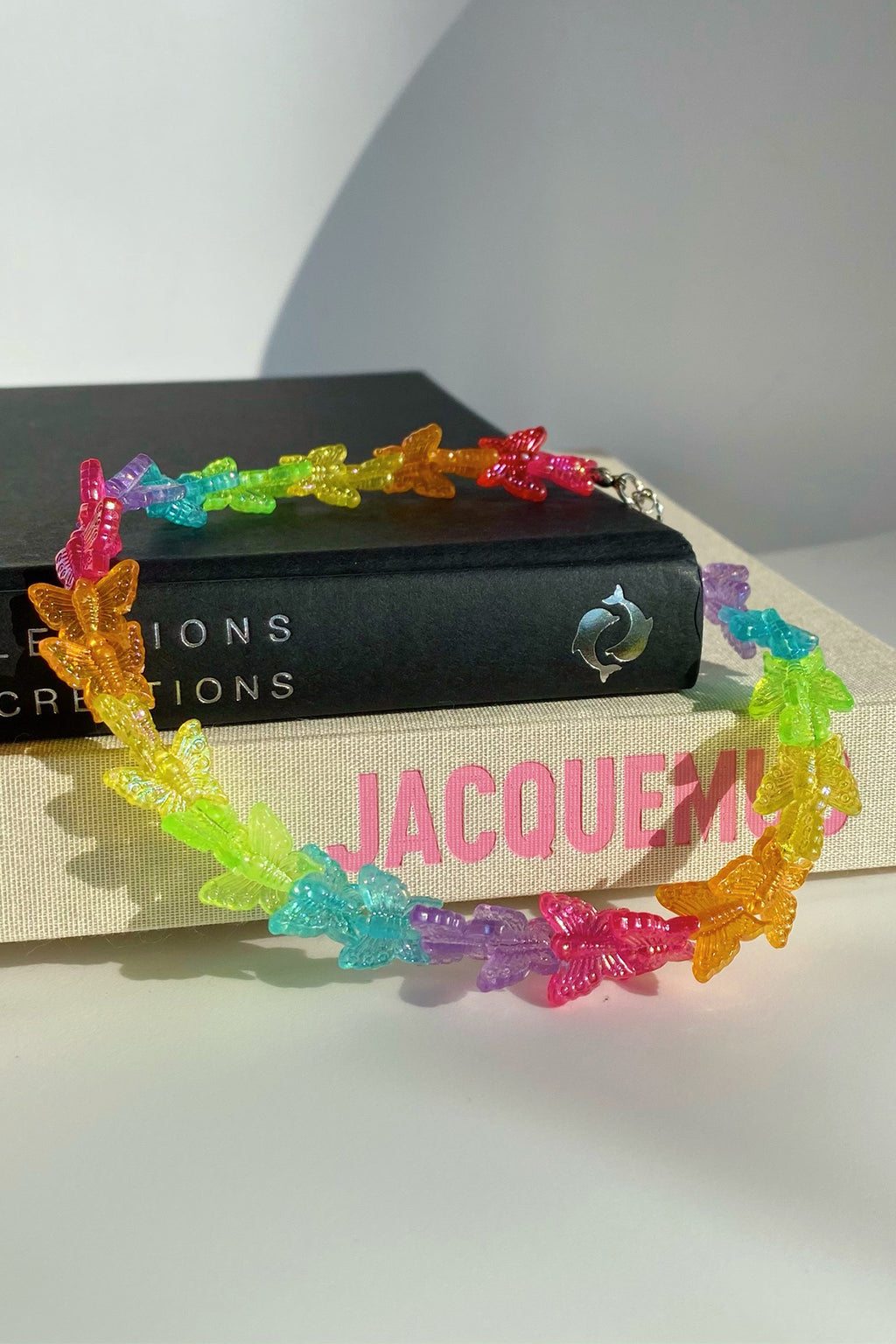 Spread Your Wings Rainbow Butterfly Choker