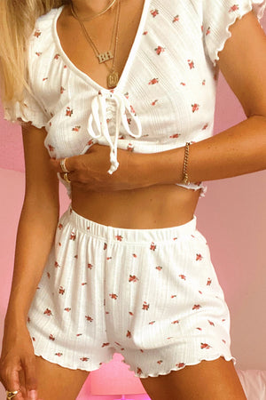 Rosy Outlook Floral Lounge Set