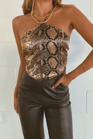 Desert Night Snakeskin Bandana Top