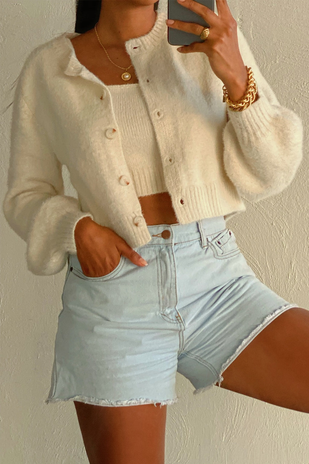 RESTOCKED: So Fetch White Fuzzy Cardigan