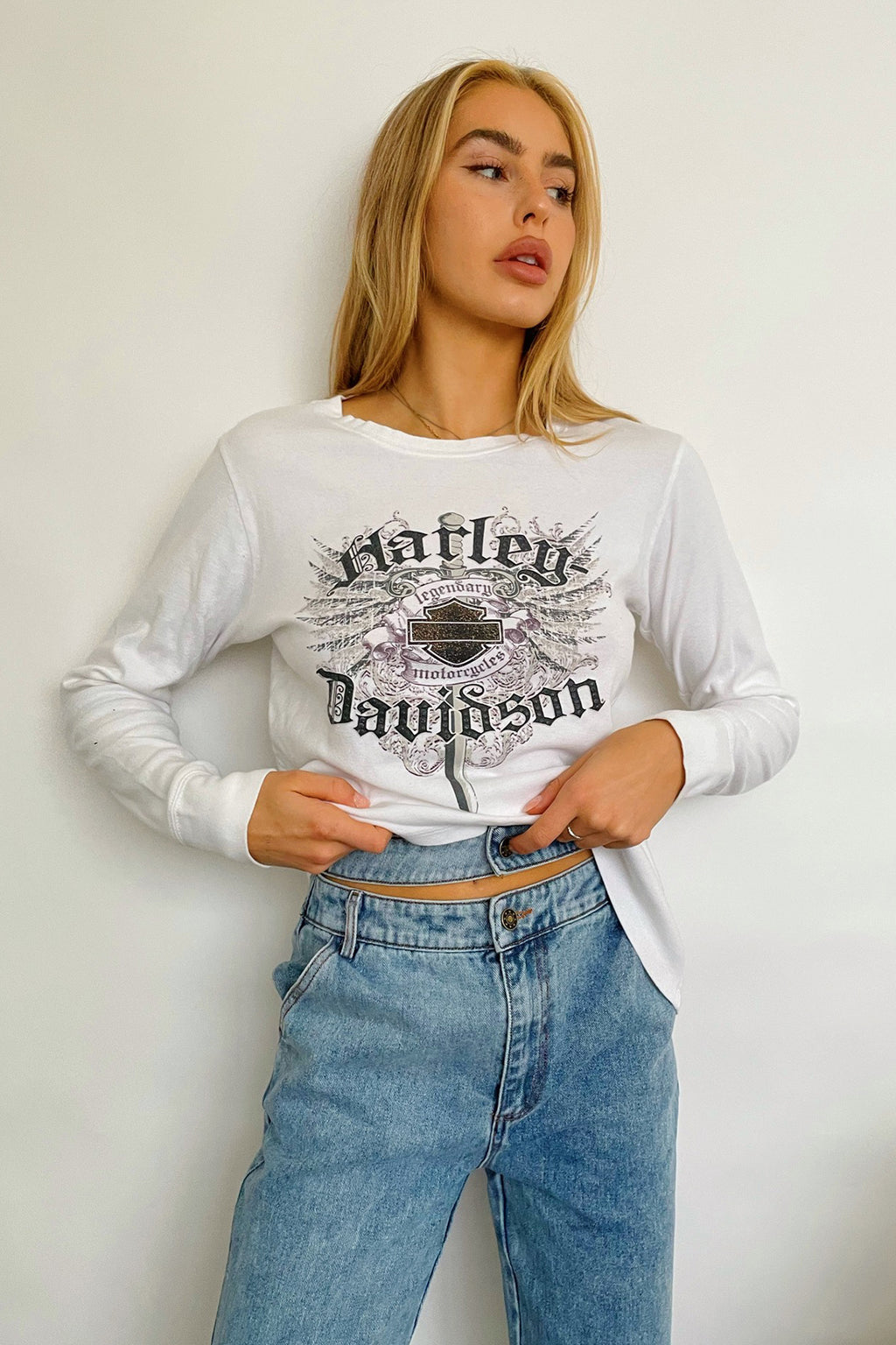 Chicago Vintage Harley Davidson Long Sleeve Top