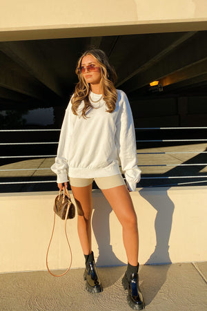 Get 2 It White Sweatshirt