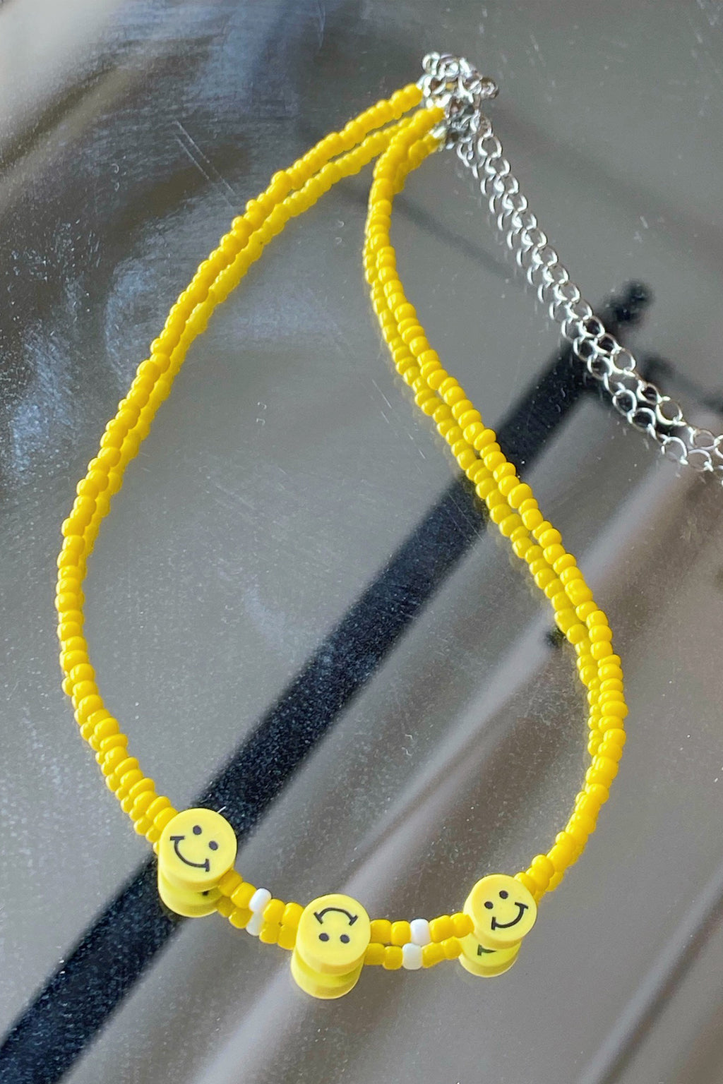 Smiley Face Yellow Necklace