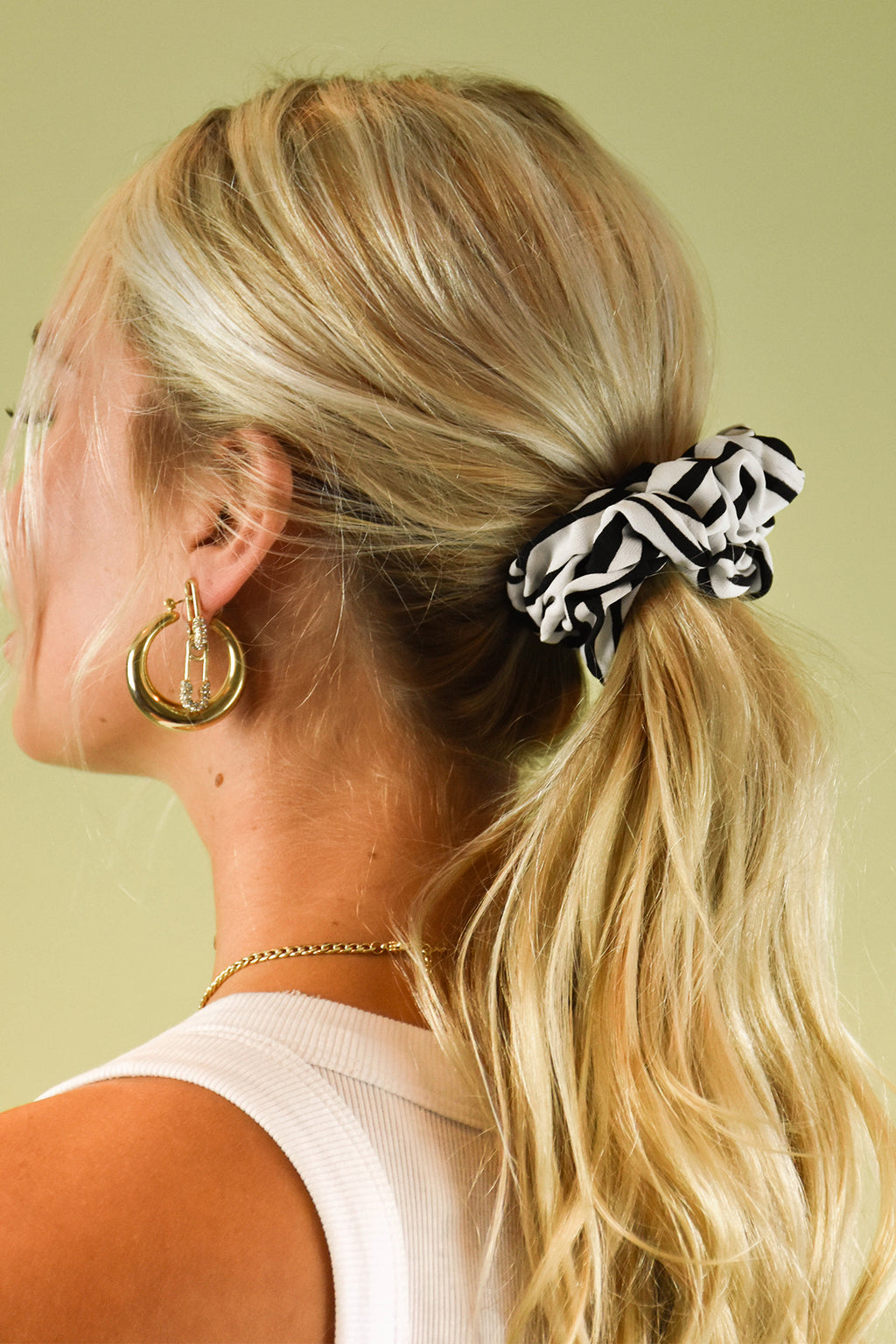 Into The Wild Zebra Scrunchie