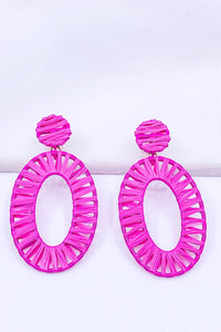Color Oval Hoops Earrings