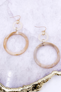 Marbled Acetate Earrings