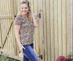 Bella Leopard V- Neck