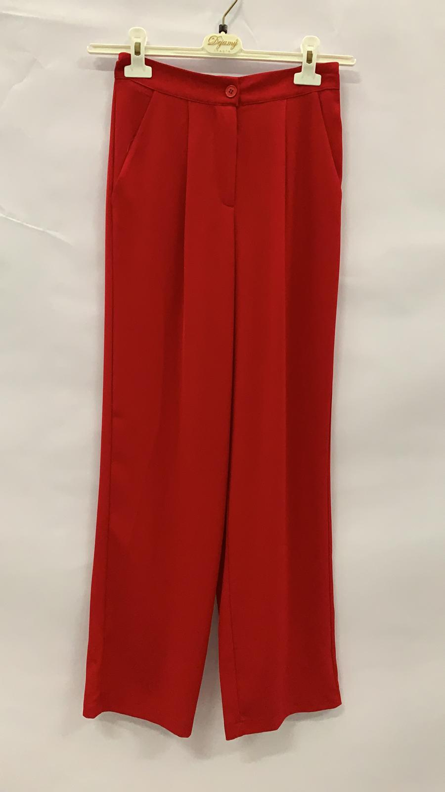 PANTALONE ROSSO T4