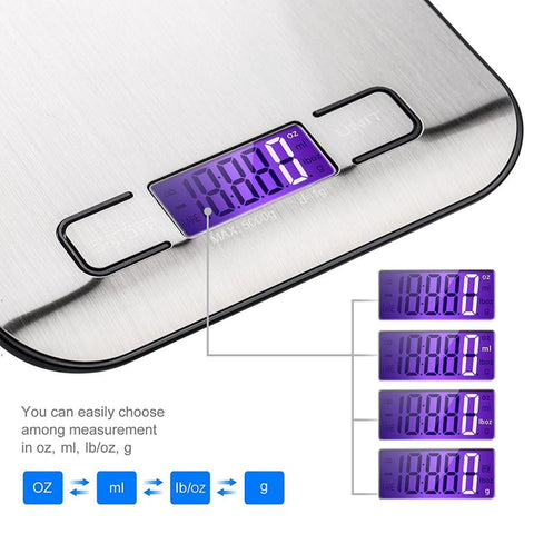 Image of Portable Digital Kitchen Scale 5Kg