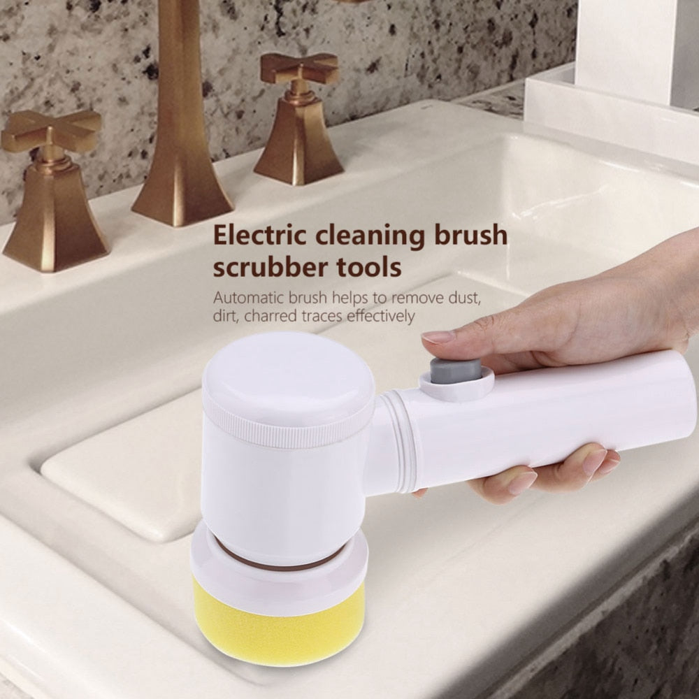 Turbo Scrub 360 Electric Cleaning Brush for Bathroom & Kitchen