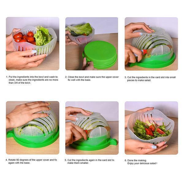 Homeware - Catheria Salad Cutter Bowl