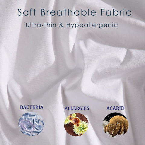 Image of Mattress Covers & Grippers - Waterproof Mattress Protector Hypoallergenic Anti-Bacterial