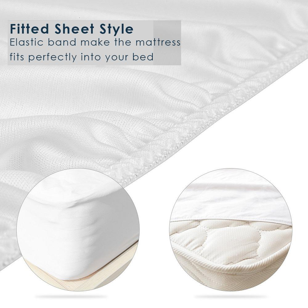 Mattress Covers & Grippers - Waterproof Mattress Protector Hypoallergenic Anti-Bacterial