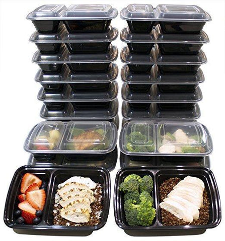 Two (2) Compartment Containers - 7 Day Pack + 3 Free