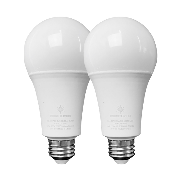 BRIGHTLIVING Rechargeable LED Bulbs (2-Pack)