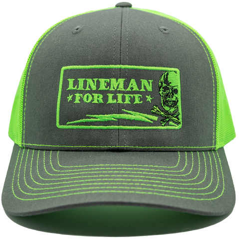 Lineman for Life - Lime - LineCrew
